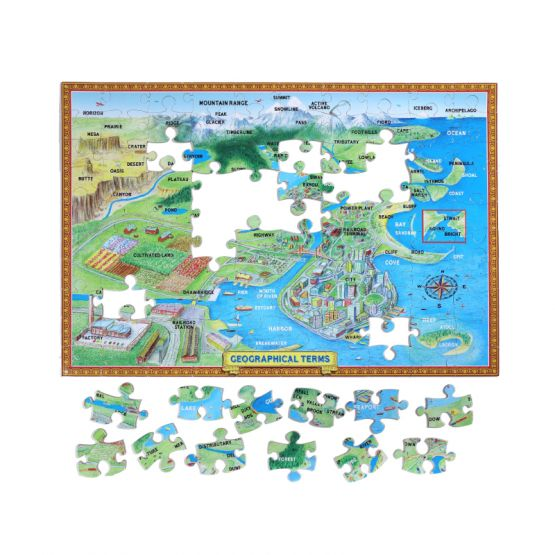 *New* Geographical Terms 100-Pc Puzzle by eeBoo