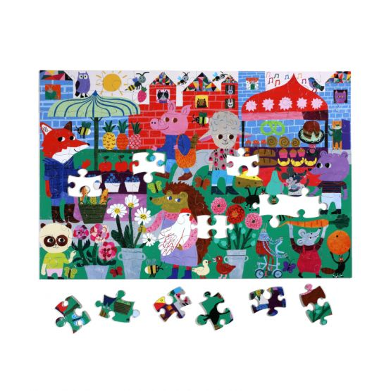 *New* Green Market 100-Pc Puzzle by eeBoo