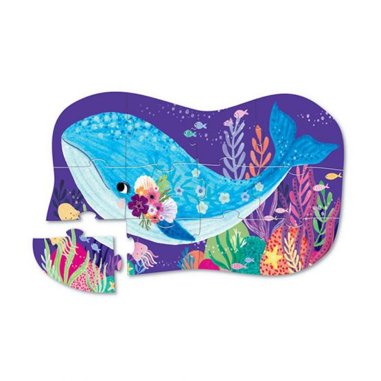 *New* 12-Piece Mini Puzzle - Whale Wonder by Crocodile Creek