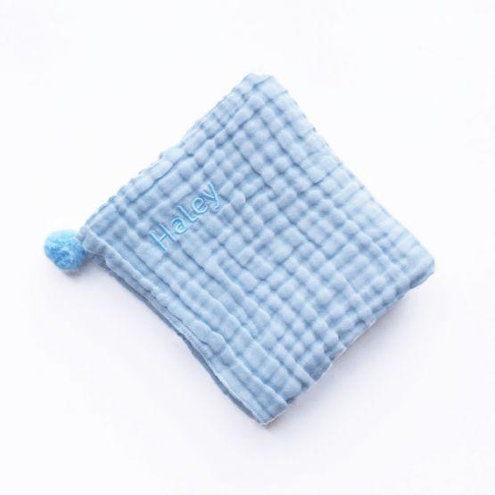 *Bestseller* Personalisable Keepsake Baby Blanket in Baby Blue