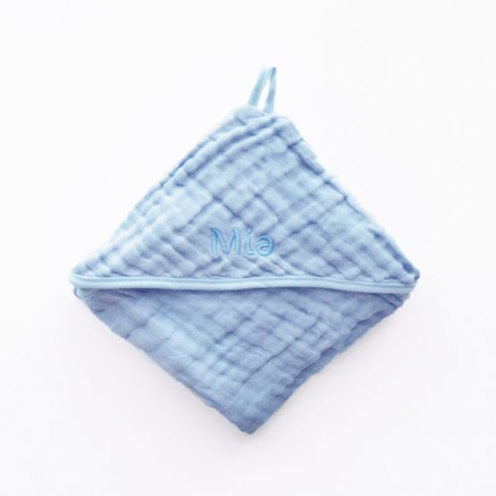 *Bestseller* Personalisable Bath Cape in Baby Blue
