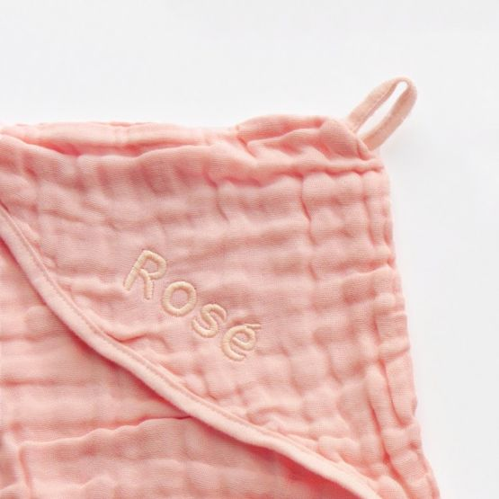 *Bestseller* Personalisable Bath Cape in Baby Pink