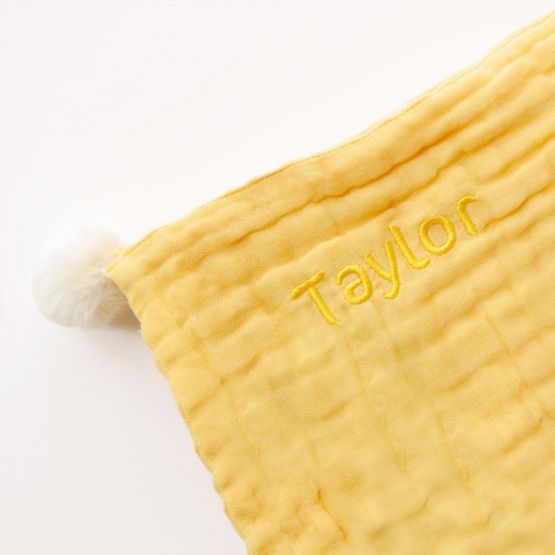 *New* Personalisable Keepsake Baby Soother in Mustard