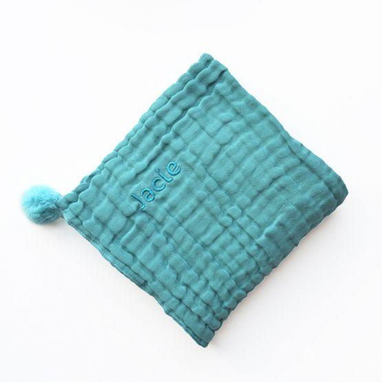 *Bestseller* Personalisable Keepsake Baby Blanket in Teal