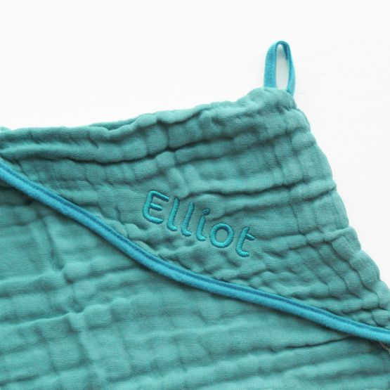 *Bestseller* Personalisable Bath Cape in Teal