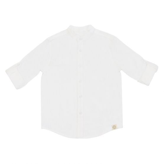 *New* Personalisable Boys Long Sleeve Shirt in White Linen