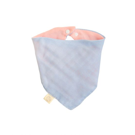 Personalisable Reversible Baby Bandana Bib in Baby Pink & Baby Blue
