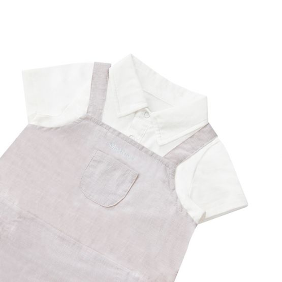 Personalisable Baby Boy Overalls in Grey