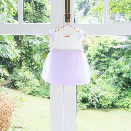 Flower Girl Series - Baby Bubble Dress in Lilac