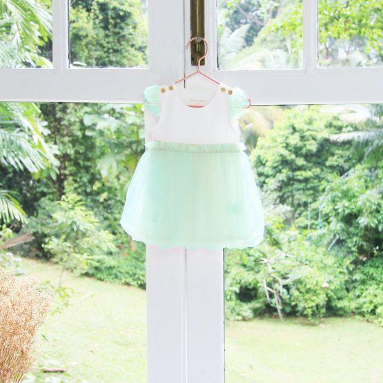 Flower Girl Series - Baby Bubble Dress in Mint