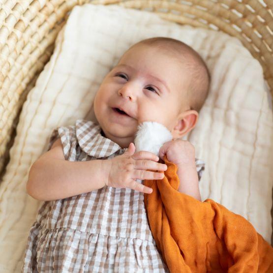 *New* Resort Series - Baby Girl Romper in Brown Gingham