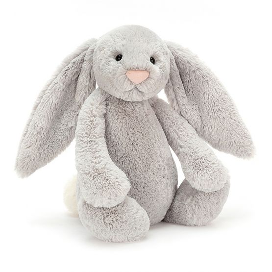 Personalisable Bashful Silver Bunny (Large) by Jellycat