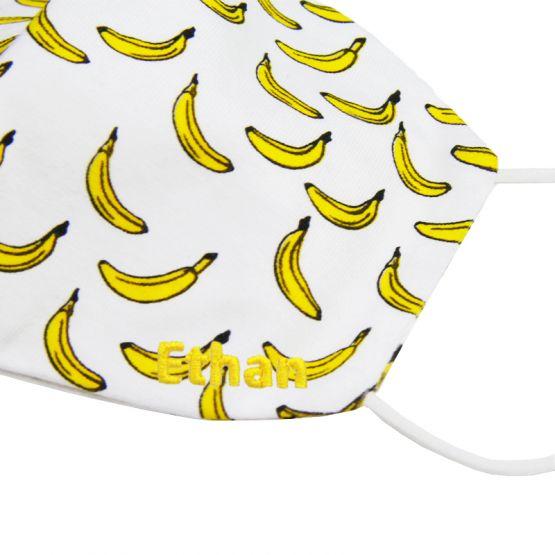 Personalisable Reusable Kids & Adult Mask in Banana Print