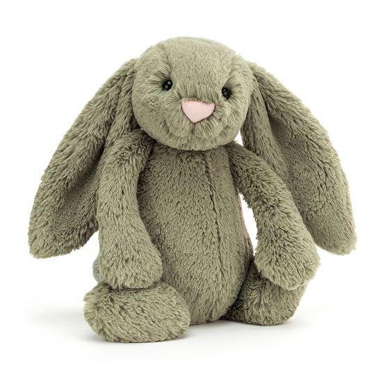 Personalisable Bashful Fern Bunny by Jellycat