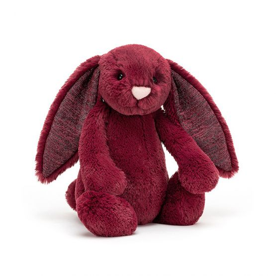 Personalisable Bashful Sparkly Cassis Bunny by Jellycat