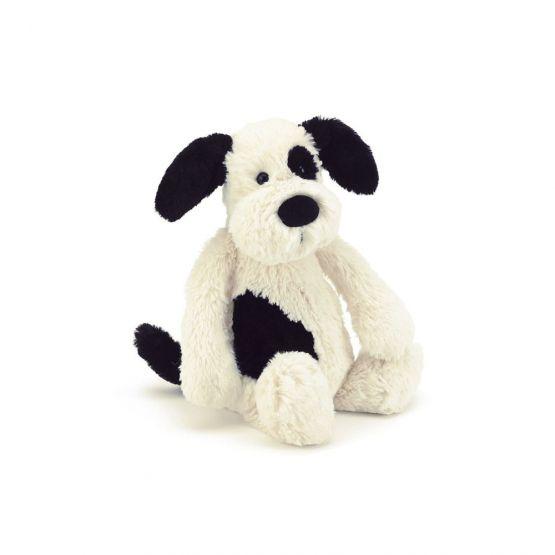 Bashful Black & Cream Puppy (Small) by Jellycat