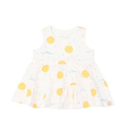 *New* Resort Series - Baby Girl Dress in Sun & Waves Print