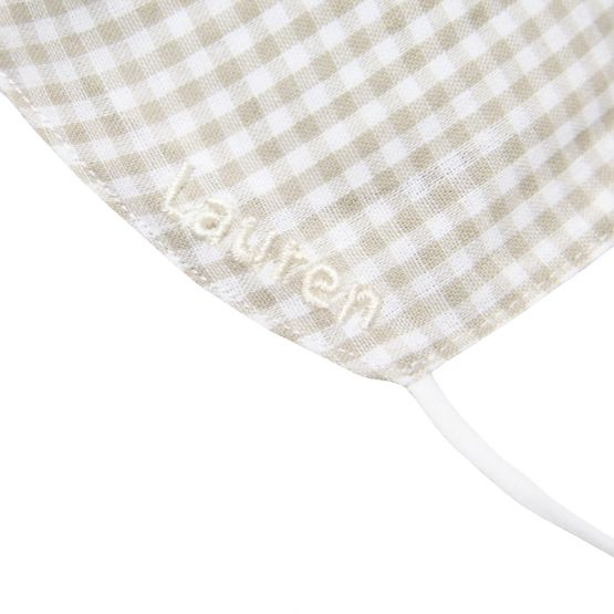 Personalisable Reusable Kids & Adult Mask in Beige Gingham