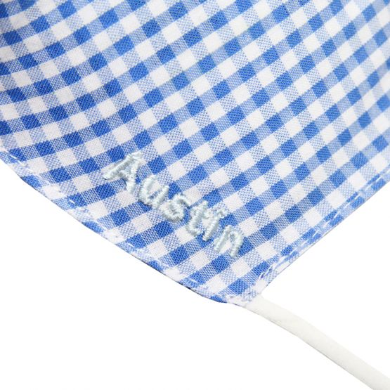 Personalisable Reusable Kids & Adult Mask in Blue Gingham