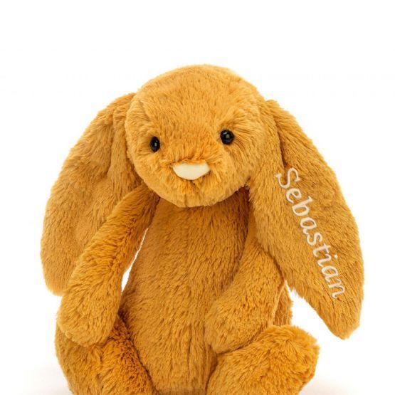 Personalisable Bashful Saffron Bunny by Jellycat