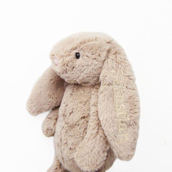 Personalisable Bashful Beige Bunny by Jellycat