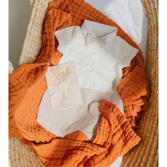 *Bestseller* Personalisable Keepsake Baby Blanket in Caramel