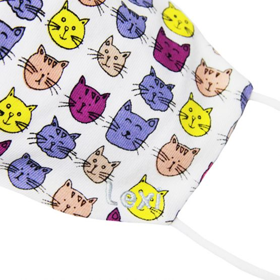 Personalisable Reusable Kids & Adult Mask in Cat Print