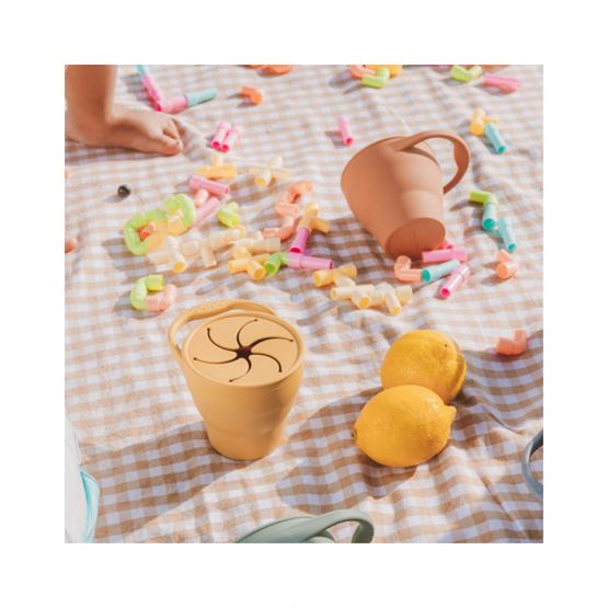 *New* Collapsible Snack Cup in Apricot by The Paper Bunny
