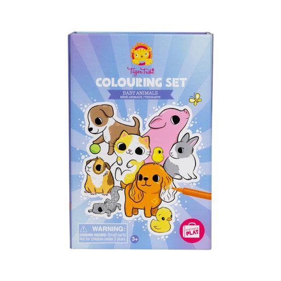 *New* Colouring Set - Baby Animals by Tiger Tribe