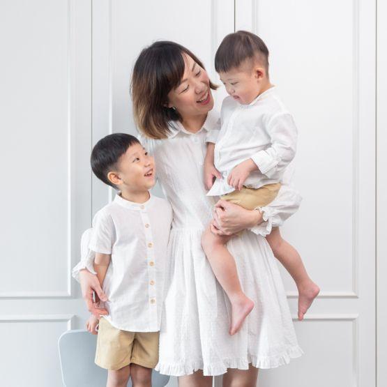 *New* Ladies Shirt Dress in White Swiss Dot Cotton