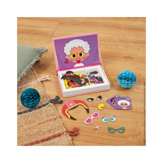 *New* Girl's Crazy Faces Magnetibook by Janod
