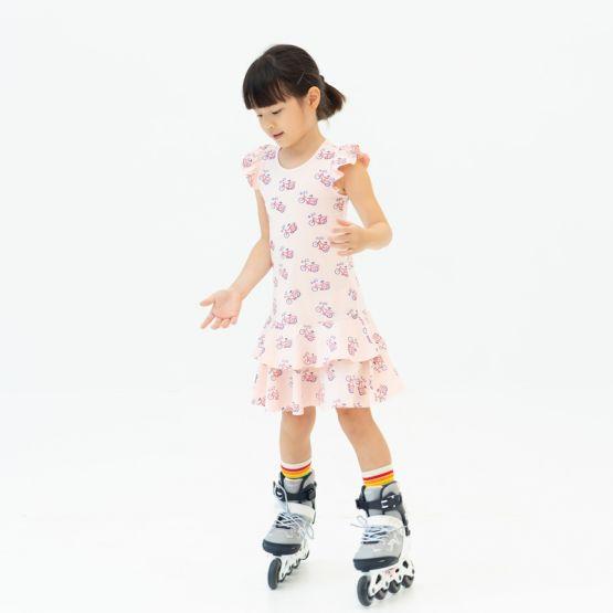 *New* Made For Play - Girls Skater Dress in Bike Print