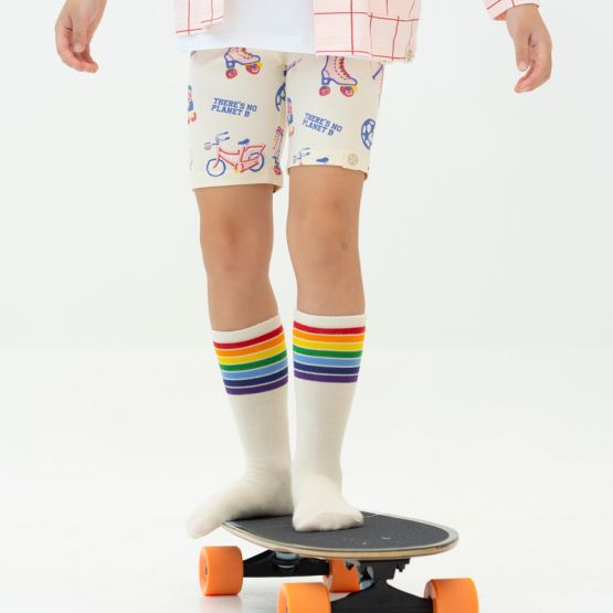 *New* Made For Play - Kids Rainbow Calf Socks in Cream