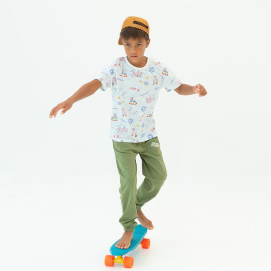 *New* Made For Play - Kids Boxy Tee in Sporty Print
