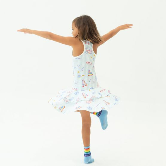 *New* Made For Play - Girls Skater Dress in Sporty Print