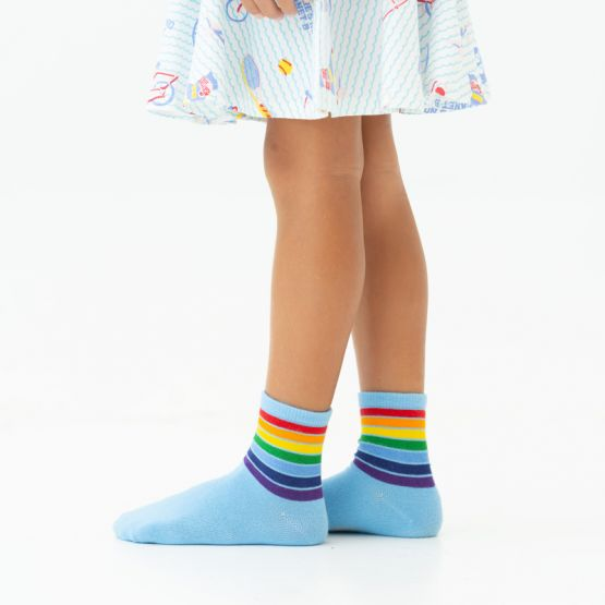 *New* Made For Play - Kids Rainbow Crew Socks in Blue