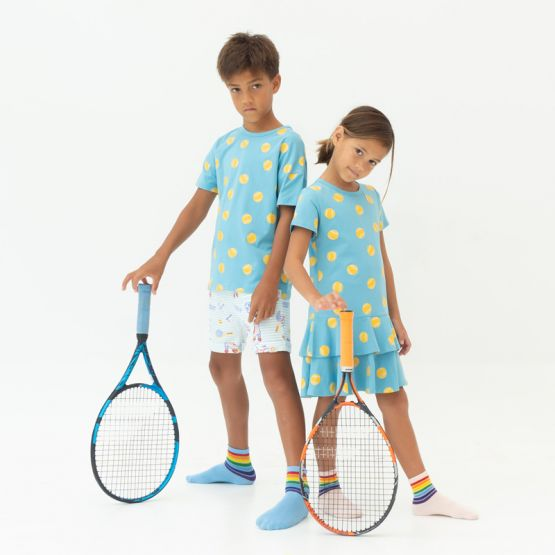 *New* Made For Play - Girls Skater Dress in Tennis Print