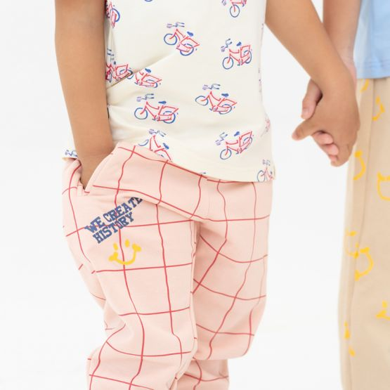 *New* Made For Play - Kids Jogger Pants in Grid Print