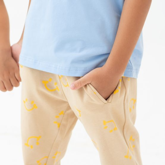 *New* Made For Play - Kids Jogger Pants in Smiley Print