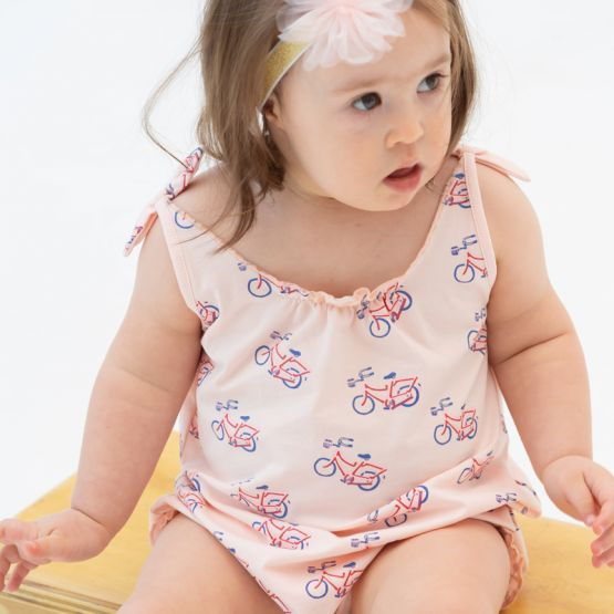 *New* Made For Play - Baby Girl Romper in Bike Print
