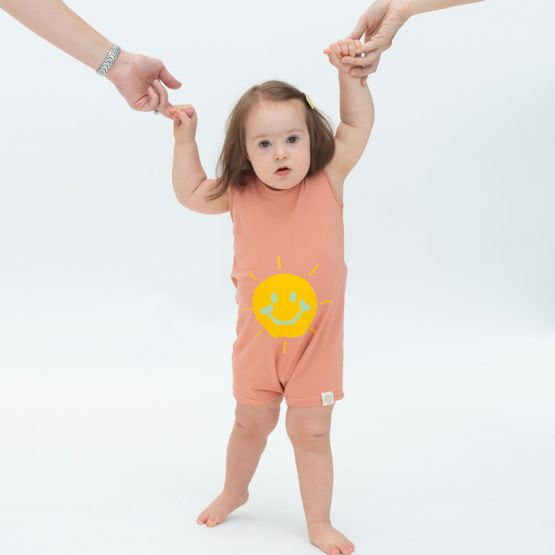 *New* Made For Play - Baby Smiley Romper in Terracotta