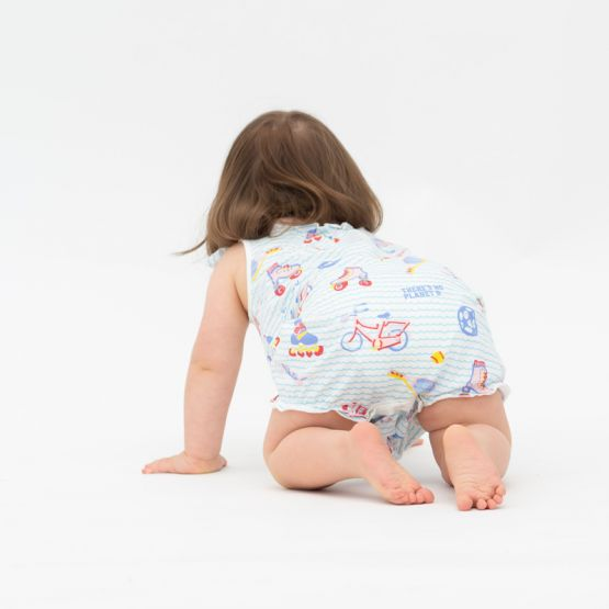 *New* Made For Play - Baby Girl Romper in Sporty Print