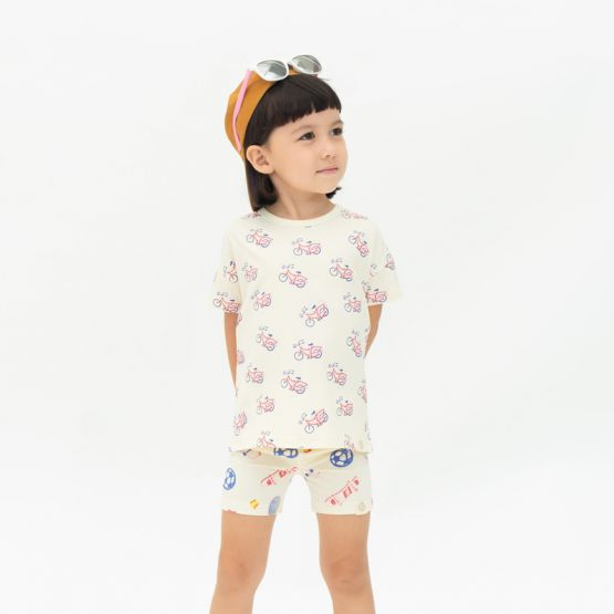 *New* Made For Play - Kids Boxy Tee in Bike Print