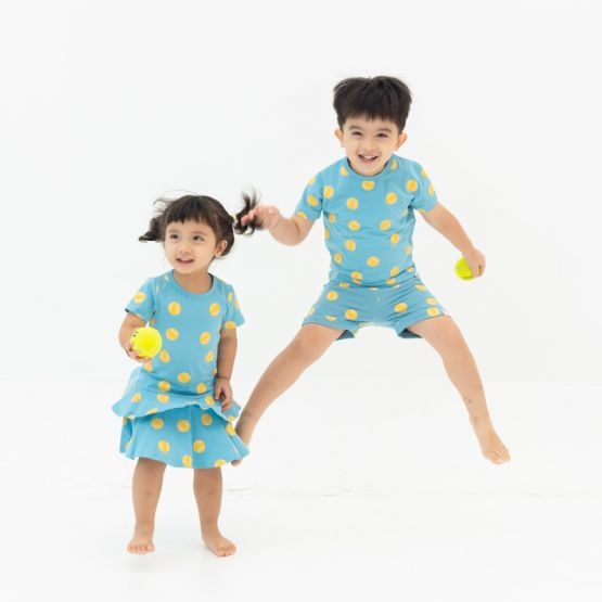 *New* Made For Play - Kids Boxy Tee in Tennis Print