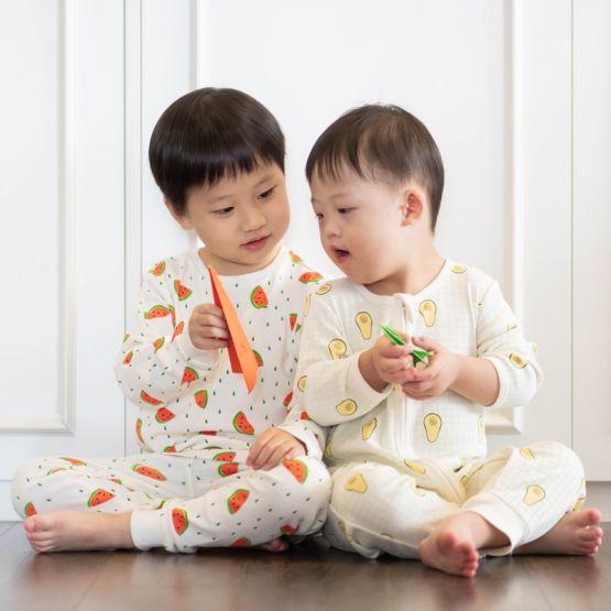 *New* Personalisable Baby Organic Zip Sleepsuit in Avocado Print