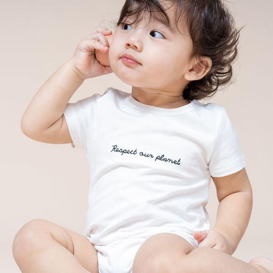 """Baby """"Respect Our Planet"""" Romper"""