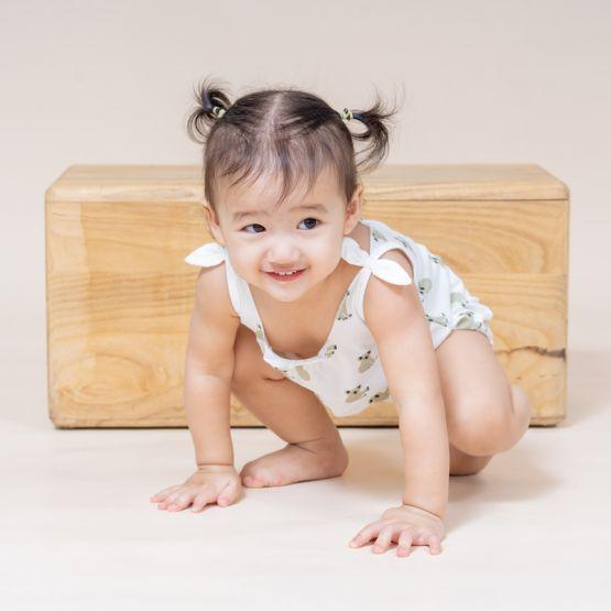Baby Girl Romper in Koala Print