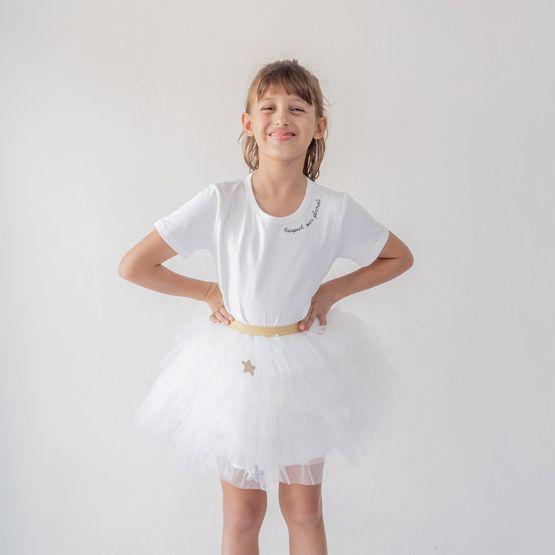 Ballerina Series - Cascading Tulle Skirt in White