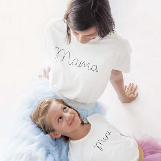 *Bestseller* Mama Tee in White/Black
