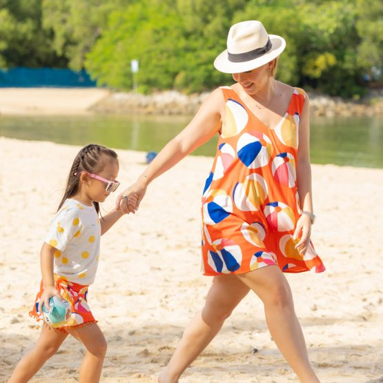 *New* Resort Series - Ladies Dress in Beach Ball Print